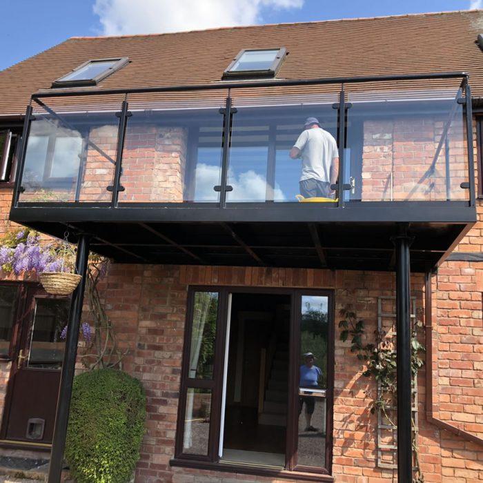 Steel design fabrication balconies