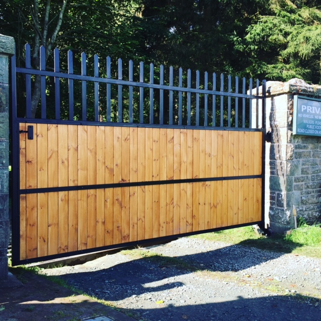 steel design fabrication automated gates