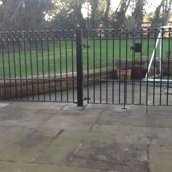 Steel design fabrication gates